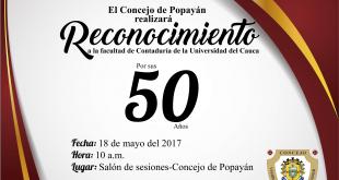 Reconocimiento a la Universidad del Cauca